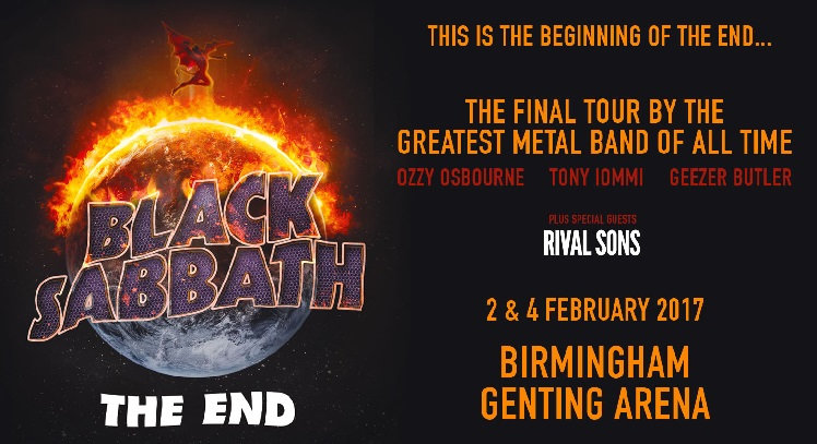 Black Sabbath concert tickets and corporate hospitality packages