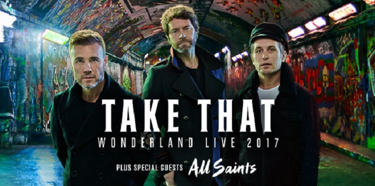 Take That concert tickets corporate hospitality packages